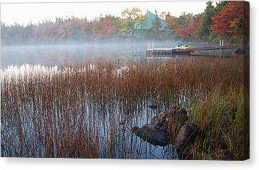 Canvas Print featuring the photograph Lake Fog At Dawn by Trever Miller