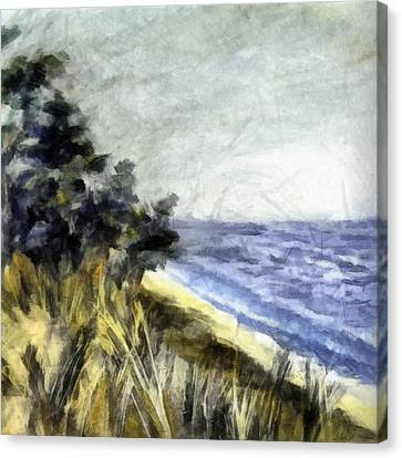 Lake From The Dunes Canvas Print by Michelle Calkins