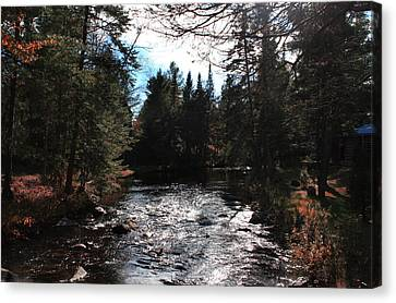 Graphic Digital Art Canvas Print - Lake George  by Mark Ashkenazi