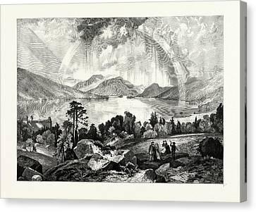 Thomas Moran Canvas Print - Lake George, Usa by American School