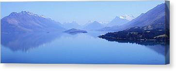 Canvas Print featuring the photograph Lake Glenorchy New Zealand by Ann Lauwers