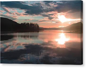 Lake Granby Sunset Canvas Print