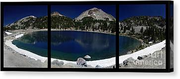 Lake Helen At Mt Lassen Triptych Canvas Print by Peter Piatt
