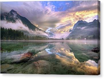 Transparency Canvas Print - Lake Hintersee by