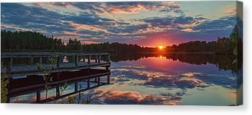 Lake Horicon Sunset 1 Canvas Print