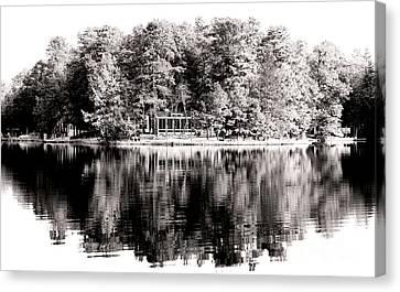 Lake House Canvas Print by John Rizzuto