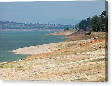 Dry Lake Canvas Print - Lake Hume In Drought by Ashley Cooper