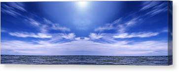 Lake Huron And Sky Canvas Print by Vast Photography