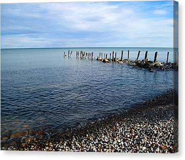 Lake Huron Pilings Canvas Print