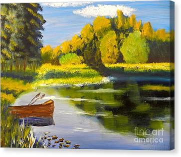 Lake Illawarra At Primbee Canvas Print