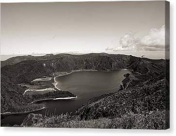 Lake In A Crater Canvas Print