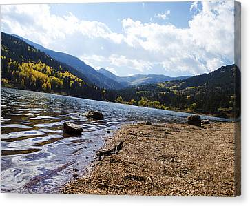 Lake In Colorado Rockies Canvas Print