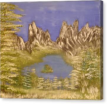 Lake In Glacier Canvas Print