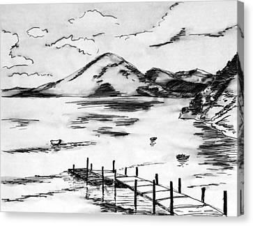 Lake In Guatemala Canvas Print