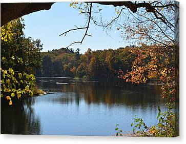 Lake In The Catskills Canvas Print by Kenneth Cole