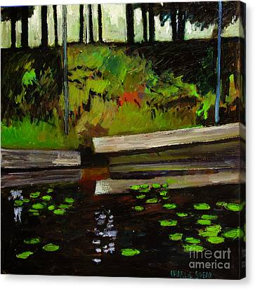 Lake In The Woods Canvas Print by Charlie Spear