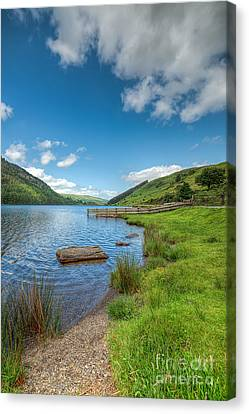 Lake In Wales Canvas Print by Adrian Evans