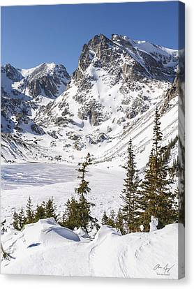 Lake Isabelle Vertical Canvas Print by Aaron Spong