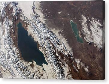 Kyrgyzstan Canvas Print - Lake Issyk Kul by Nasa