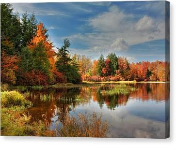 Lake Jean Reflections Canvas Print by Lori Deiter