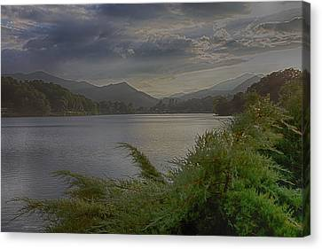 Canvas Print featuring the photograph Lake Junaluska by Dennis Baswell