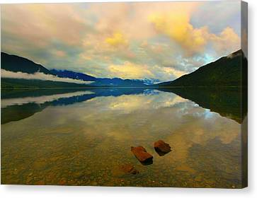 Canvas Print featuring the photograph Lake Kaniere New Zealand by Amanda Stadther