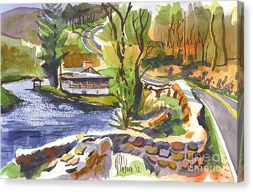 Lake Killarney Impressions Ironton Missouri Canvas Print by Kip DeVore