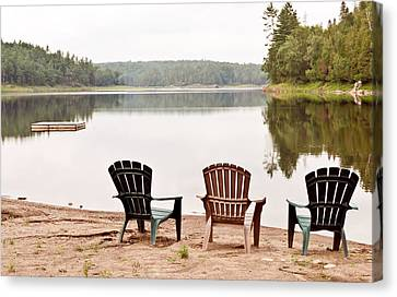 Canvas Print featuring the photograph Lake Landscape by Marek Poplawski