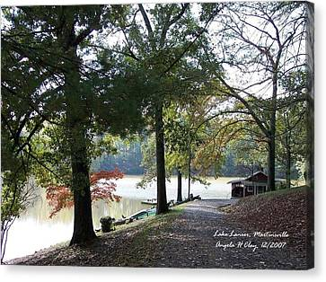 Lake Lanier In Martinsville Va Canvas Print by Angelia Hodges Clay