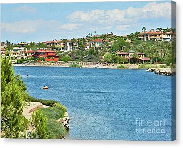 Canvas Print featuring the photograph Lake Las Vegas In May by Emmy Marie Vickers
