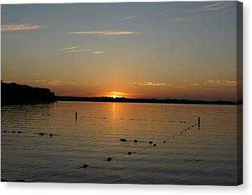 Lake Le Homme Dieu Sunset Canvas Print by Steven Clipperton