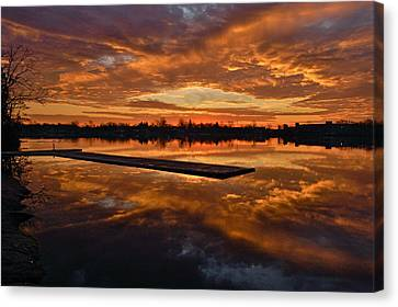 Lake Lenape Sunrise1 Canvas Print