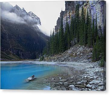 Lake Louise North Shore - Canada Rockies Canvas Print by Daniel Hagerman