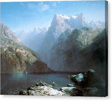Lake Lucerne Canvas Print by Alexandre Calame