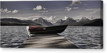 Lake Mcdonald Canvas Print by Ellen Heaverlo