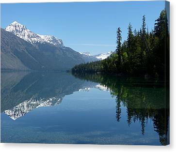 Lake Mcdonald - Glacier National Park Canvas Print by Lucinda Walter
