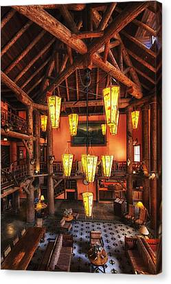 Lake Mcdonald Canvas Print - Lake Mcdonald Lodge by Mark Kiver
