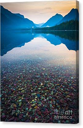 Lake Mcdonald Serenity Canvas Print by Inge Johnsson
