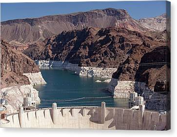 Lake Mead Dam And Hydro Plant Canvas Print by Ashley Cooper