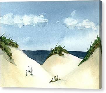 Lake Michigan Dunes Canvas Print by Lynn Babineau