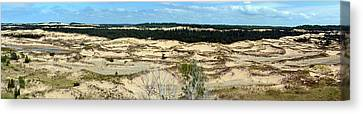 Lake Michigan Hills And Dunes Canvas Print by Michelle Calkins