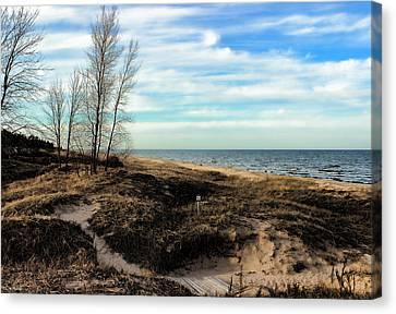 Canvas Print featuring the photograph Lake Michigan Shoreline by Lauren Radke