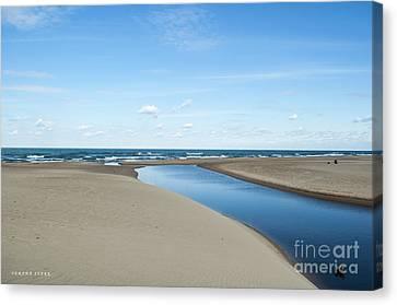 Lake Michigan Waterway  Canvas Print