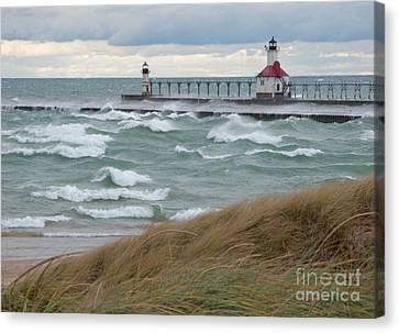 Lake Michigan Winds Canvas Print by Ann Horn