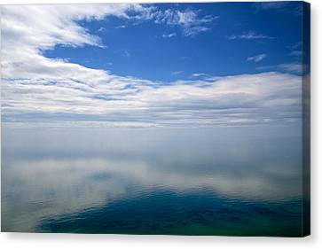 Lake Michigan's Lost Horizon Canvas Print by Mary Lee Dereske