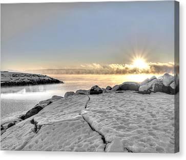 Lake Mjosa Inlet Canvas Print by Chris Shirley