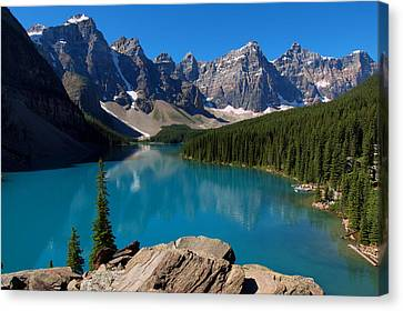 Lake Morine Blue Canvas Print