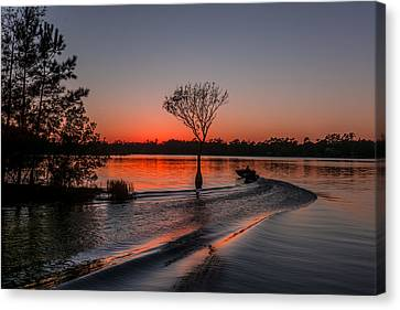 Canvas Print featuring the photograph Lake Moultrie by RC Pics