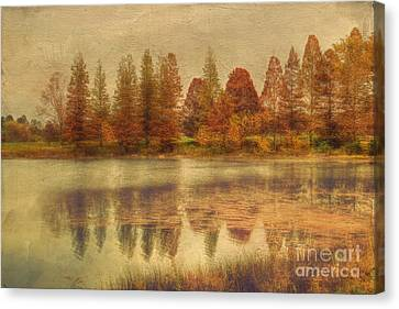 Fall Scenes Canvas Print - Lake Nevin by Darren Fisher