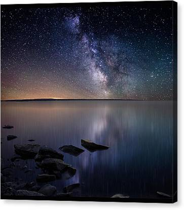 Stars Canvas Print - Lake Oahe by Aaron J Groen